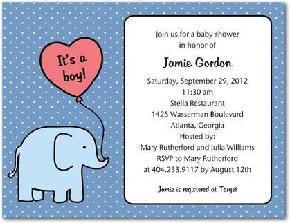 Tiny Elephant: Lapis - Studio Basics: Baby Shower Invitations in Lapis | Tiny Prints Studio Basics