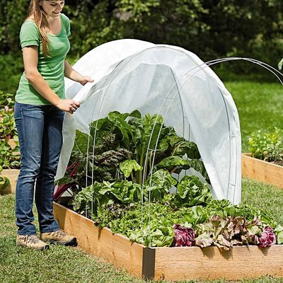 Made from heavy-gauge wire Super Hoops support fabric, shade fabric, frost covers and bird netting. 100% Satisfaction Guaranteed.