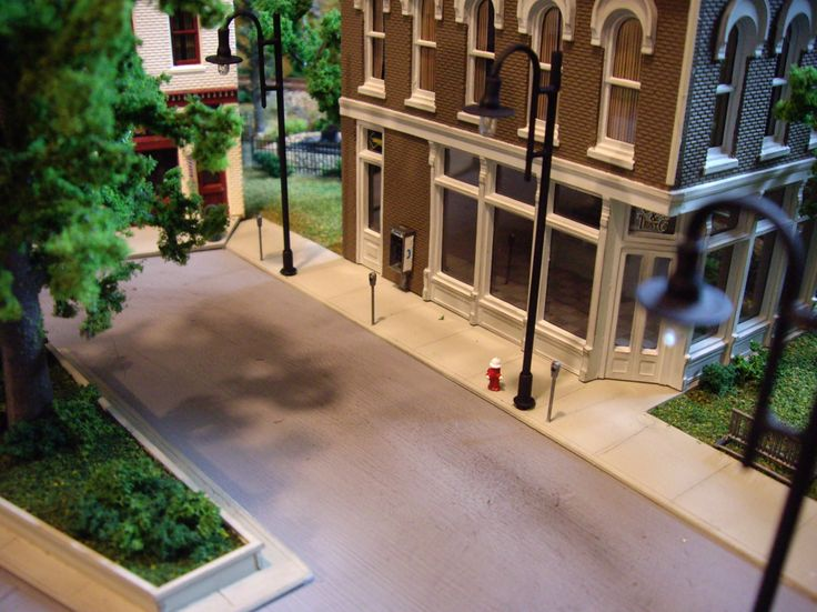 Model Railroad City Scenery Sidewalk Details From
