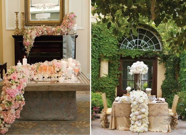 {Wedding Trends} : Cascading Flowers - Belle the Magazine . The Wedding Blog For The Sophisticated Bride