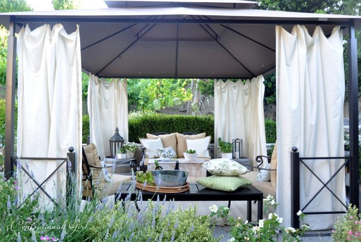 Cozy Outdoor Cabana Area from Centsational Girl