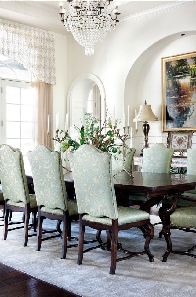 376 best dining images on pinterest dining room for Traditional formal dining room