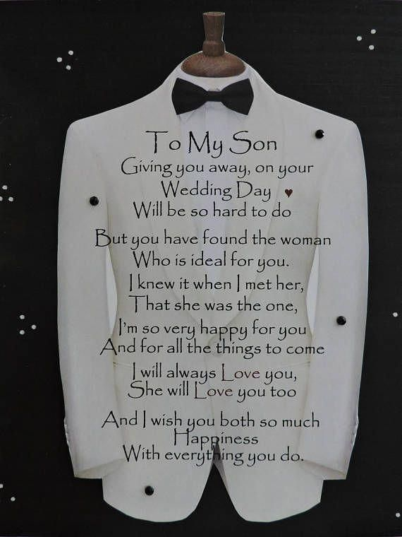 Son Wedding Gift Engagement Gift From Mother To Son Son