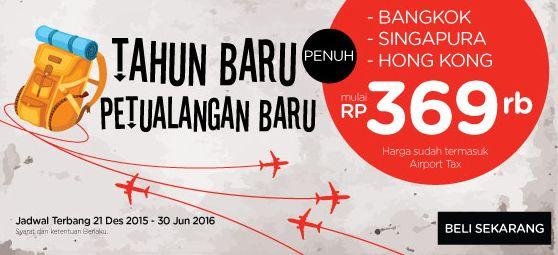 Tahun Baru Petualangan Baru ! Punya rencana traveling tahun depan? Nikmati tiket promo dari AirAsia ! Booking sekarang lebih murah loh http://ow.ly/W9NeN  #TiketPesawat #AirAsia #TahunBaru #Liburan #Travel #Traveling #Backpacker #Backpacking #JalanJalan #Airpaz #Promo