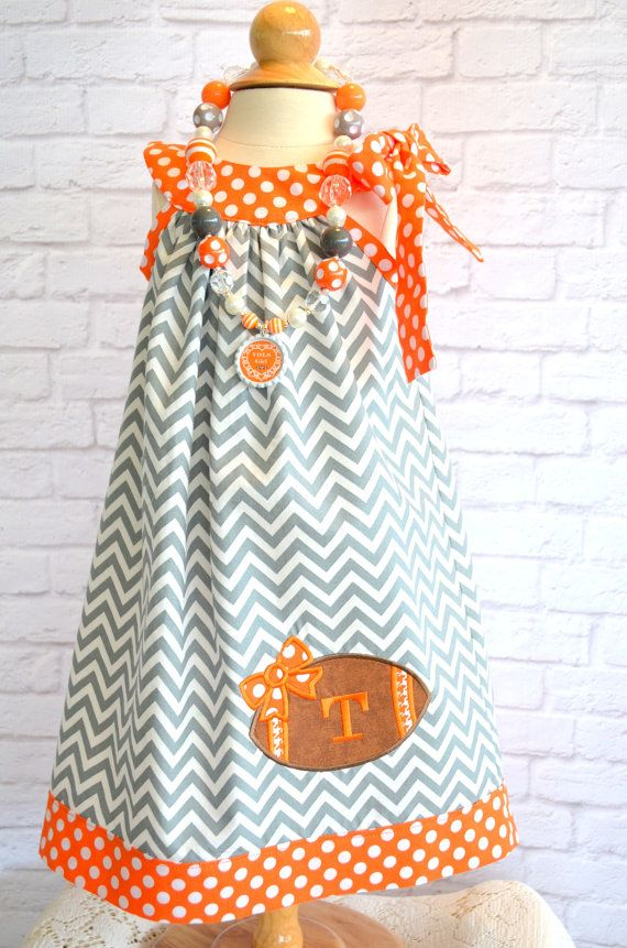 Tennessee Vols Football Dress Sizes 12 by LadyBugHugsBoutique, $38.00