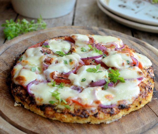 Lavender and Lovage | Low-Calorie Cauliflower Crust Pizza: Gluten Free, Paleo and 5:2 Diet Pizza Recipe | http://www.lavenderandlovage.com