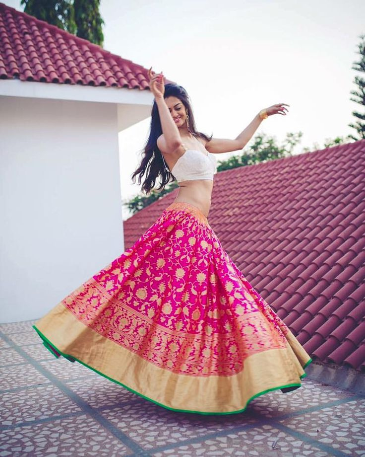 you could team a skirt made from a silk saree with a top to give it that indo-western vibe www.Shopzter.com