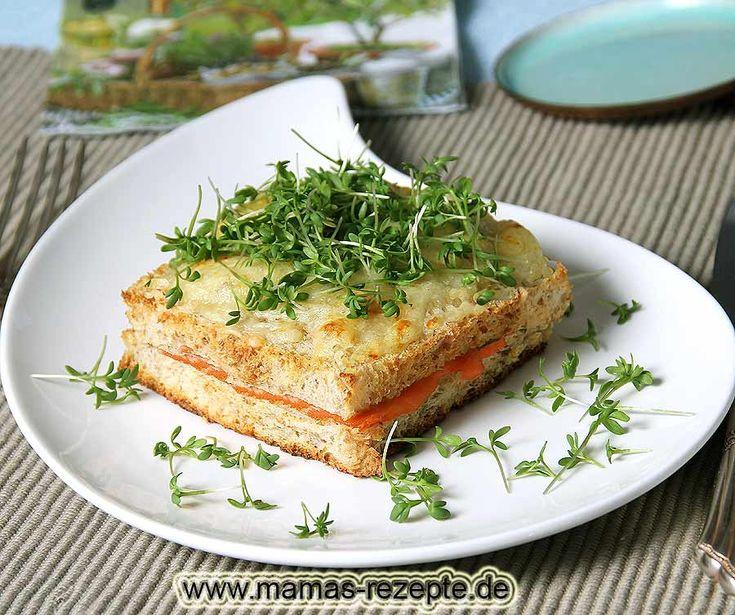 Rezept Käse Lachs Toast überbacken auf Mamas Rezepte Homepage