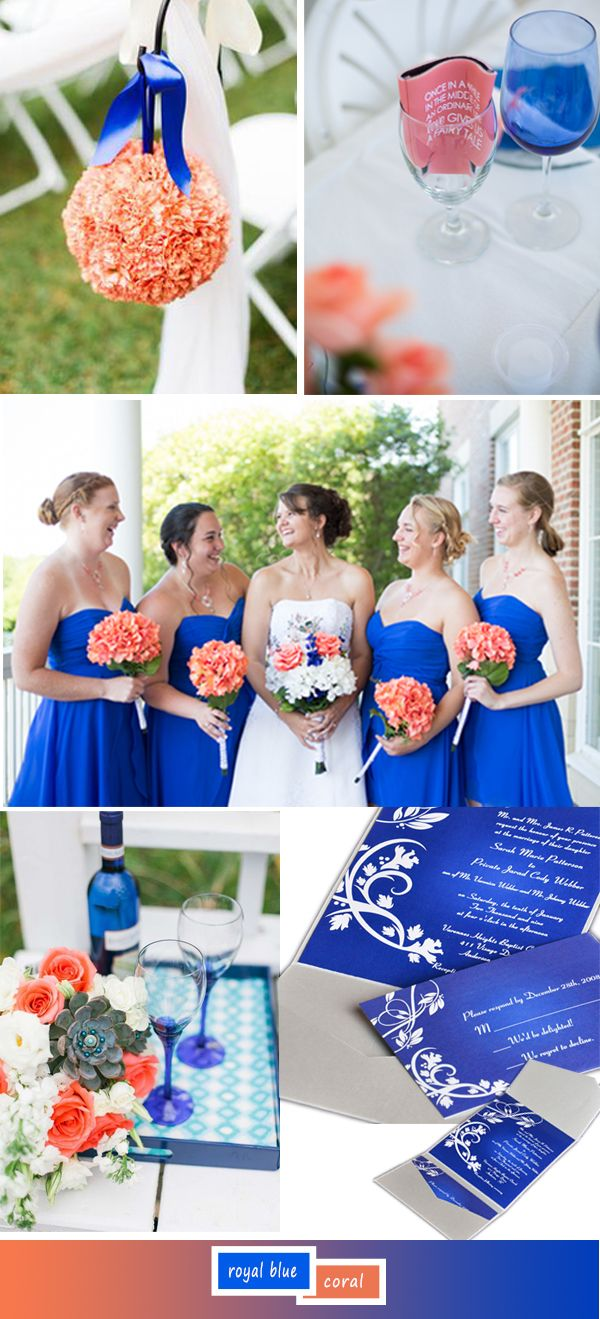 Coral And Blue Wedding Decorations: Coral blue and pink wedding ...