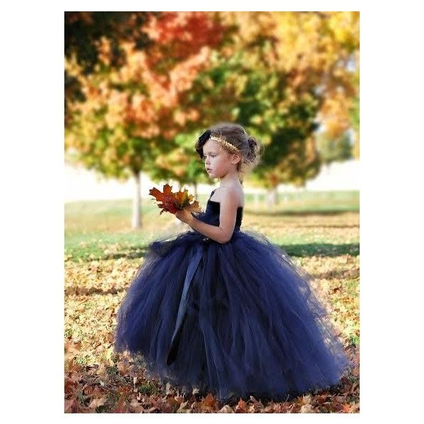 flower girl dress, navy and gold nautical flower girl dress ❤ liked on Polyvore…