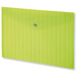Product 103239, Description: GLO Popper Wallets Polypropylene A4 Green [Pack 3]