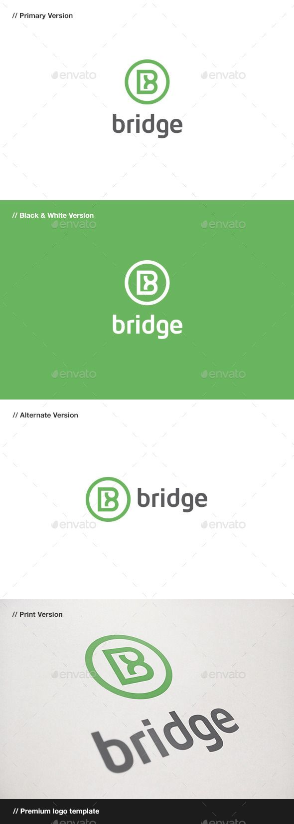 Bridge: Letter B Logo by domibit Bridge: is a logo that can be used by design professionals and photography for corporate companies, banks, among other uses. Its d