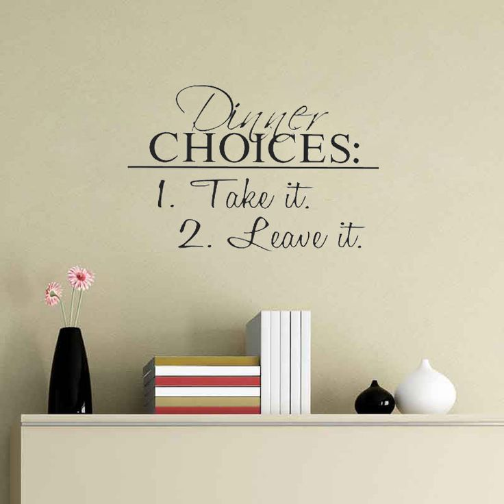 Dinner Choices Take Leave Vinyl Decal Wall quote Inspiration Kitchen  Stickers  ebay shop. 17 Best ideas about Kitchen Stickers on Pinterest   Wall stickers