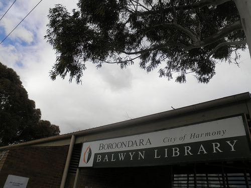 Clouds over Balwyn Library 52/18/3
