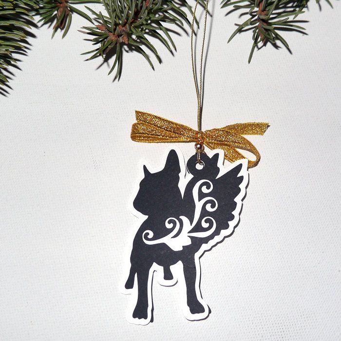 Bull Terrier Christmas tree decoration Melchior by PSIAKREW on Etsy