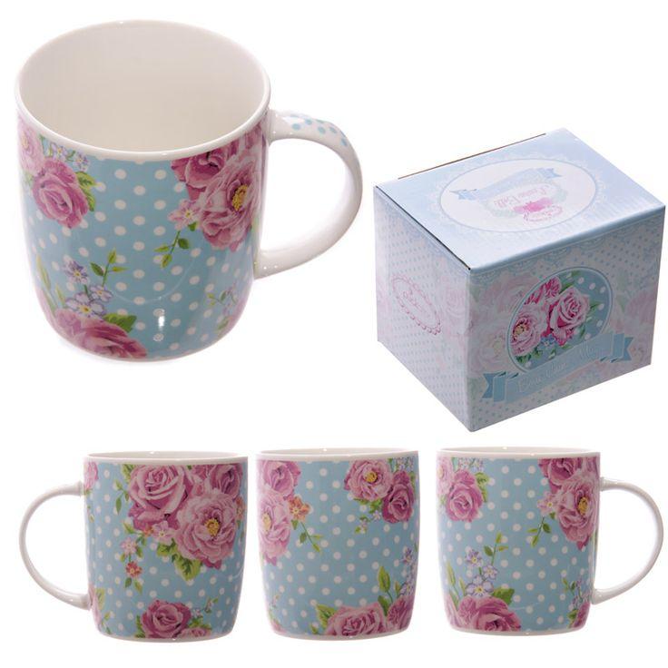 Mug En Porcelaine Chintz Anglais Par Laura Bell