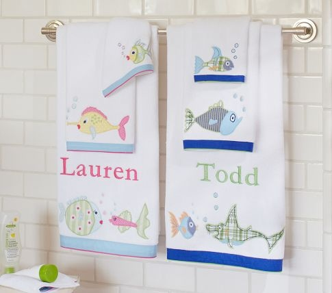 Best Kids Bathroom Images On Pinterest Bathroom Ideas Kid - Fish bath towels for small bathroom ideas