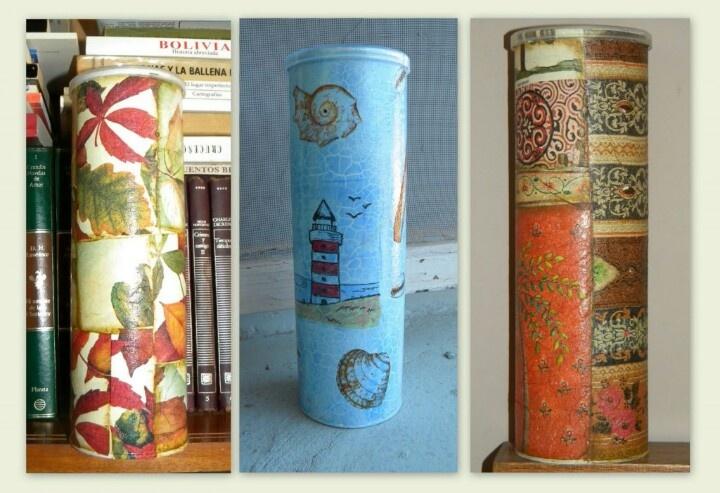 Reciclaje con cajas de papel carton de avena o papas - Cajas de plastico para almacenar ...