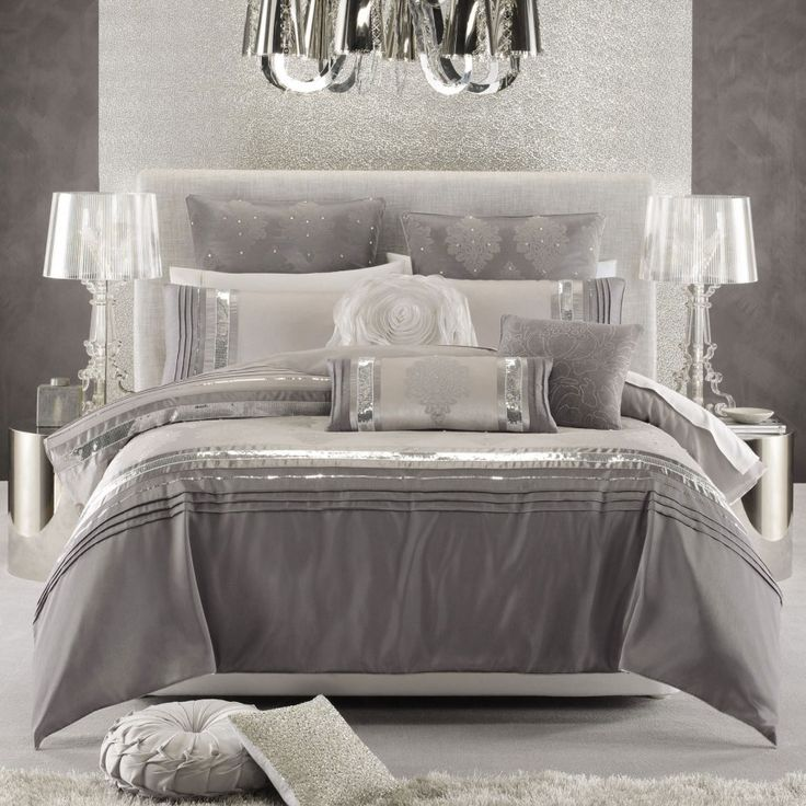 Best 25+ Silver bedding ideas on Pinterest | Cozy bedroom decor ...