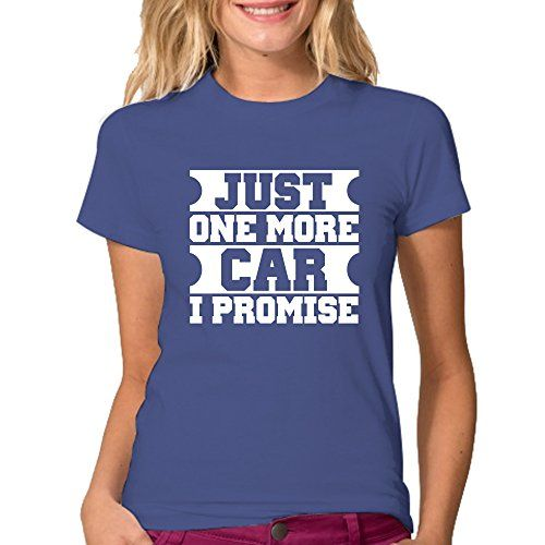 Just One More Car I Promise T-Shirt - Color Royal Blue M…