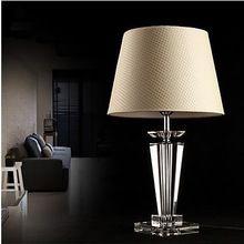 moderne minimalistische europese luxe mode creatieve kristallen tafel lamp 220v lamp bedlampje slaapkamer tafellamp(China (Mainland))
