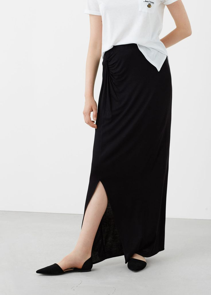 Smocked waist skirt | MANGO