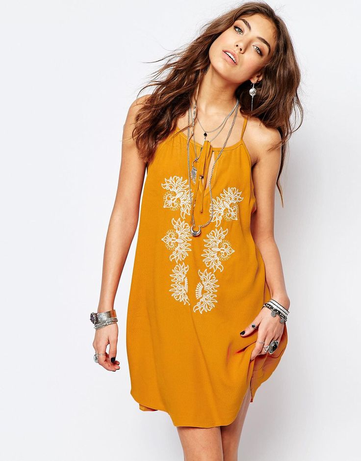 Just when I thought I didn't need something new from ASOS, I kinda do  This Bohemian dress is the perfect color! I would totally wear with a camel colored gladiator dress and a few long, layering necklaces.