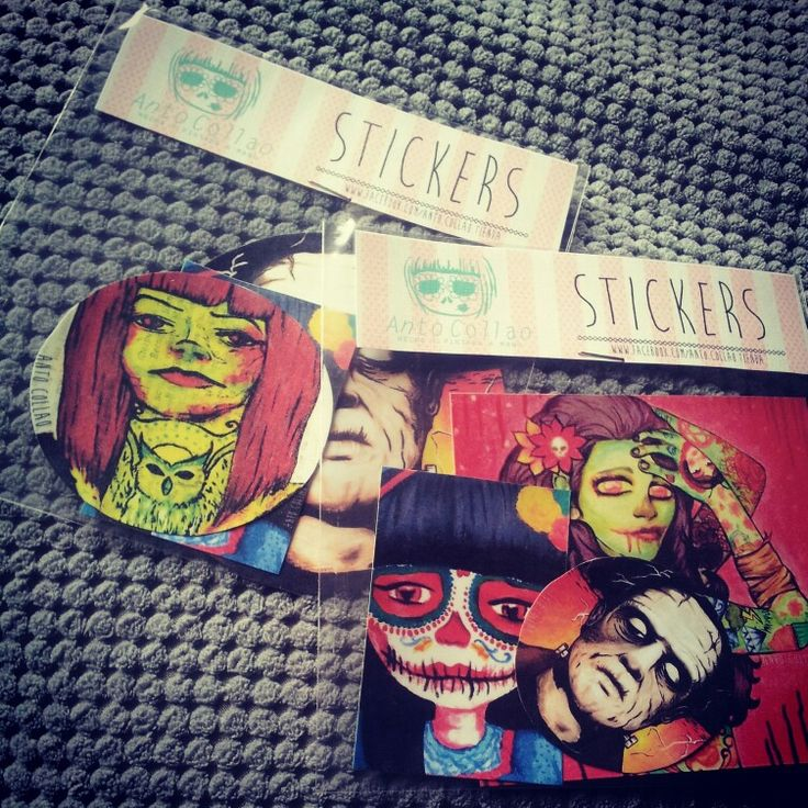 Stickers  Ilustraciones propias  #skull #zombie #catrina #sugarskull