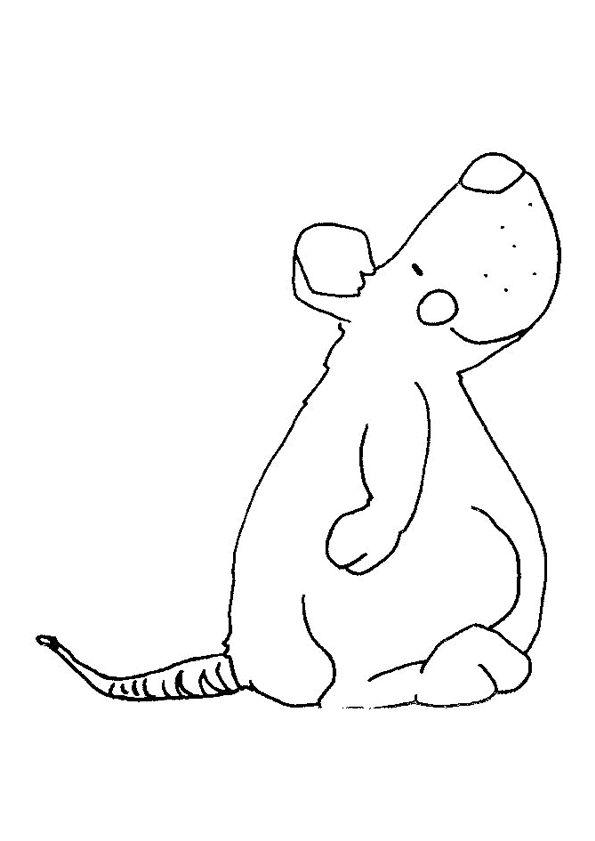 274 best coloriages animaux de la ferme images on - Dessin d un rat ...