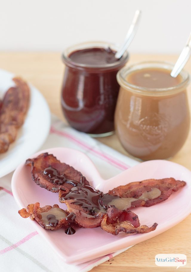 Atta Girl Says | Caramel Chocolate Bacon Valentine's Day Snack | http://www.attagirlsays.com