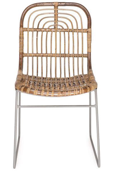 House Doctor Kawa Dining Chair, Rattan and Metal