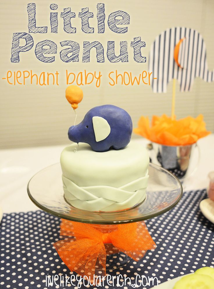 Cutest Baby Shower Idea From LiveLikeYouAreRich.com: Little Peanut Elephant Baby  Shower!