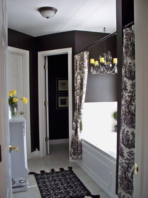 negro y blanco bathroom