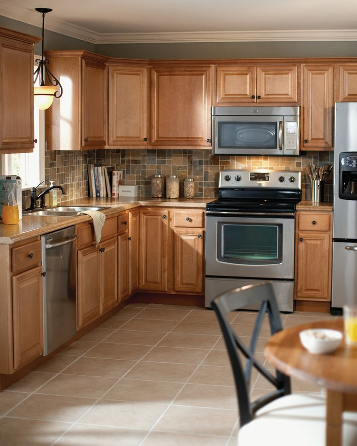 these gorgeous cambria kitchen cabinets in harvest are part of our selection of quick to - Home Depot Kitchens