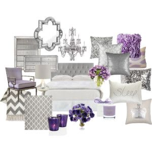 Lavender and Grey Bedroom