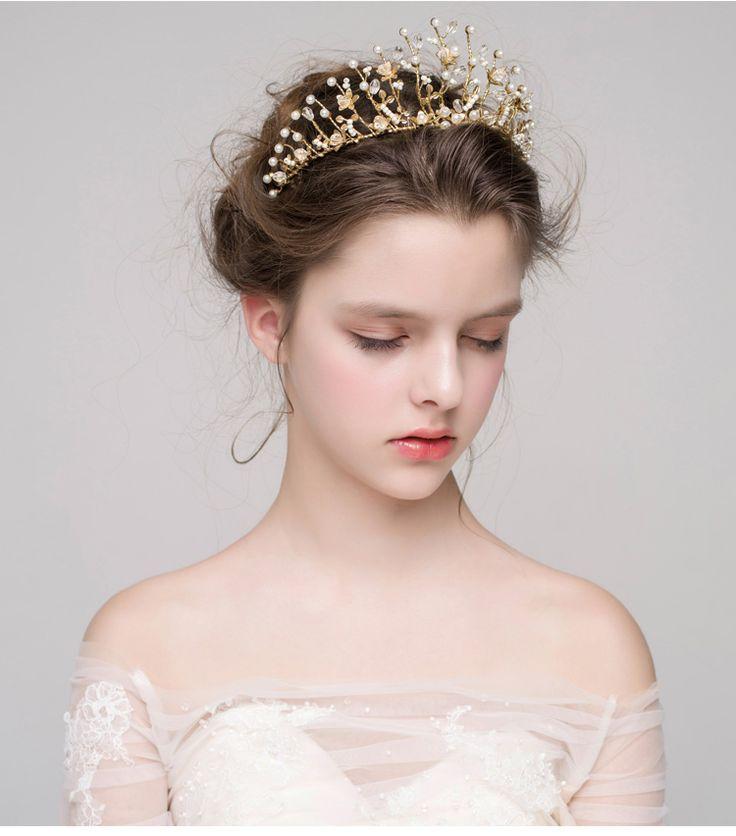 Мисс Дива Чан Lan Ou полосы ретро золотые свадебные аксессуары для волос волосы головным убором принцесса вышла замуж с свадебные украшения -tmall.com Lynx