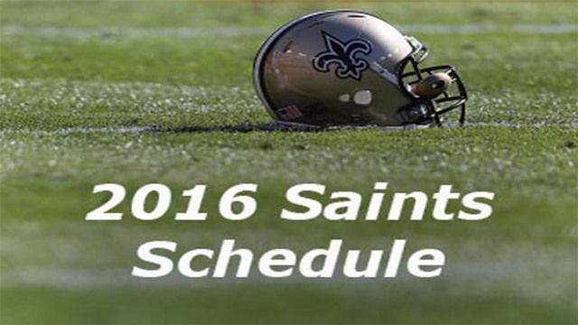 Saints 2016 schedule announced, home opener against the Raiders