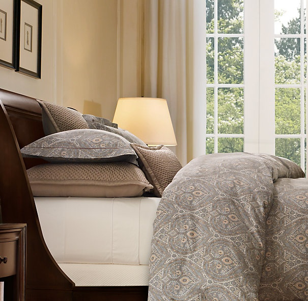 Italian cypress paisley bedding collection bed linens for Duvet covers restoration hardware