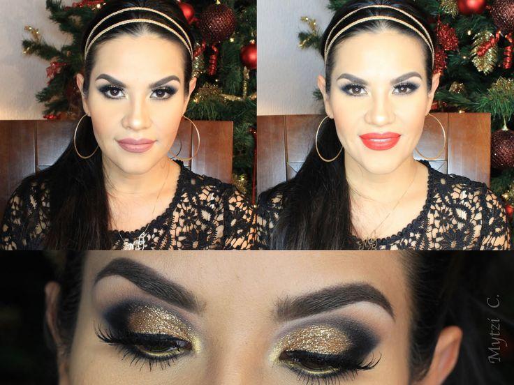 Año Nuevo Maquillaje Glitter Dorado /Colab Beautybynena | Mytzi Cervantes