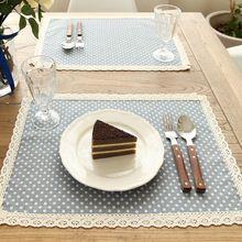 Alta qualidade rendas dot guardanapos de linho têxteis lar toalhas de chá de cozinha jantar guardanapos de pano de casamento casa decoração suprimentos(China (Mainland))