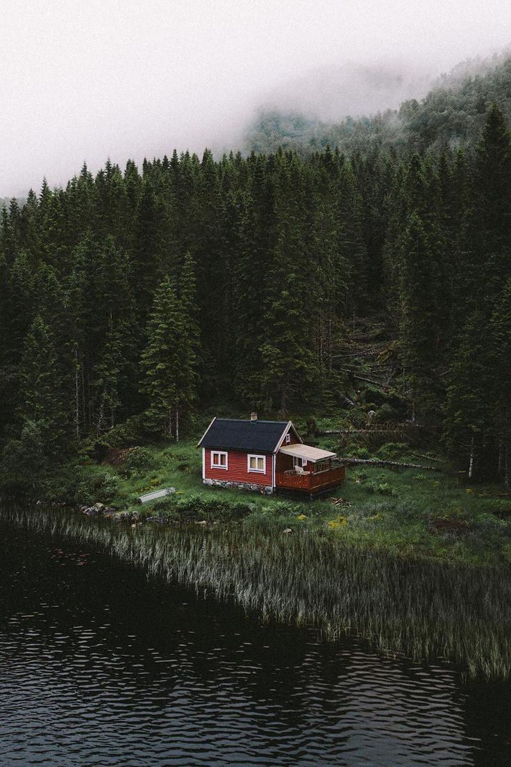 Cabin by the river in Norway
