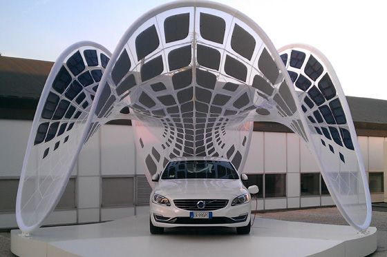 PURE Tension Pavilion for Volvo Italia- a collaboration between Fabric Images and Synthesis Design + Architecture.