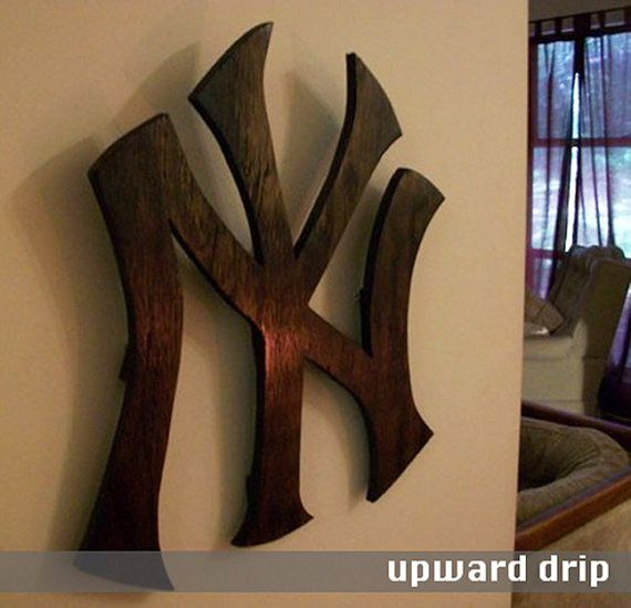 New York Yankees Emblem by UpwardDrip on Etsy...for man cave...in white?