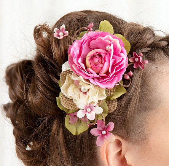 ~ ❤ Made to order. Please allow 1-2 weeks before shipment, or message me for pricing on a rush order.    A piece of floral artwork for your updo...