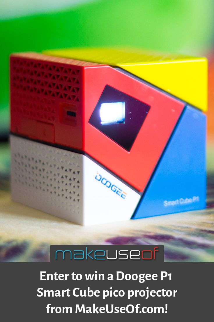 Enter to win a Doogee P1 Smart Cube pico projector from MakeUseOf.com! Enter Here: https://wn.nr/Y2sk2H