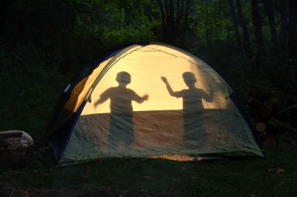 camping in familie