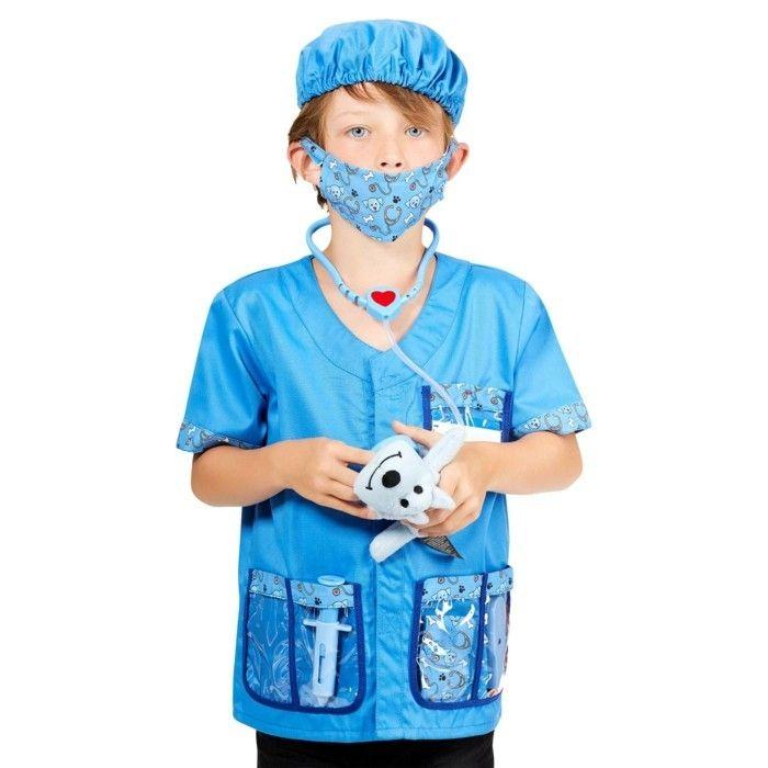 costume enfant veterinaire en bleu Kiabi
