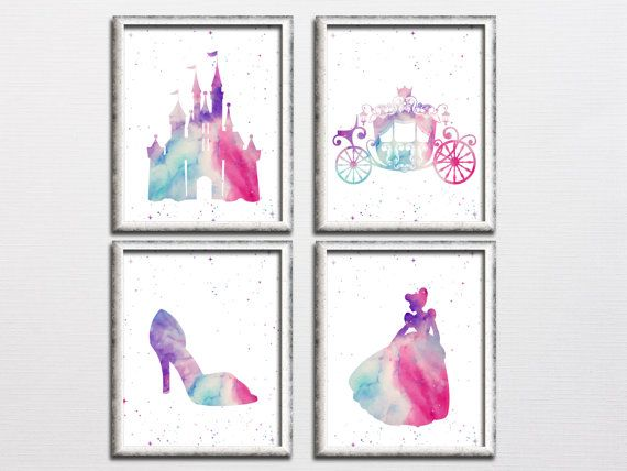 Disney inspired princess castle carriage by HappyPrintCreations
