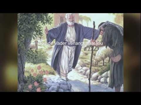 Thuis bij de Vader  Waarom kwam Jezus op aarde? Hij wil je thuis bij Zijn Vader brengen. video met Kerst - Pasen - hemelvaart - Pinksteren -   www.bijbelidee.nl