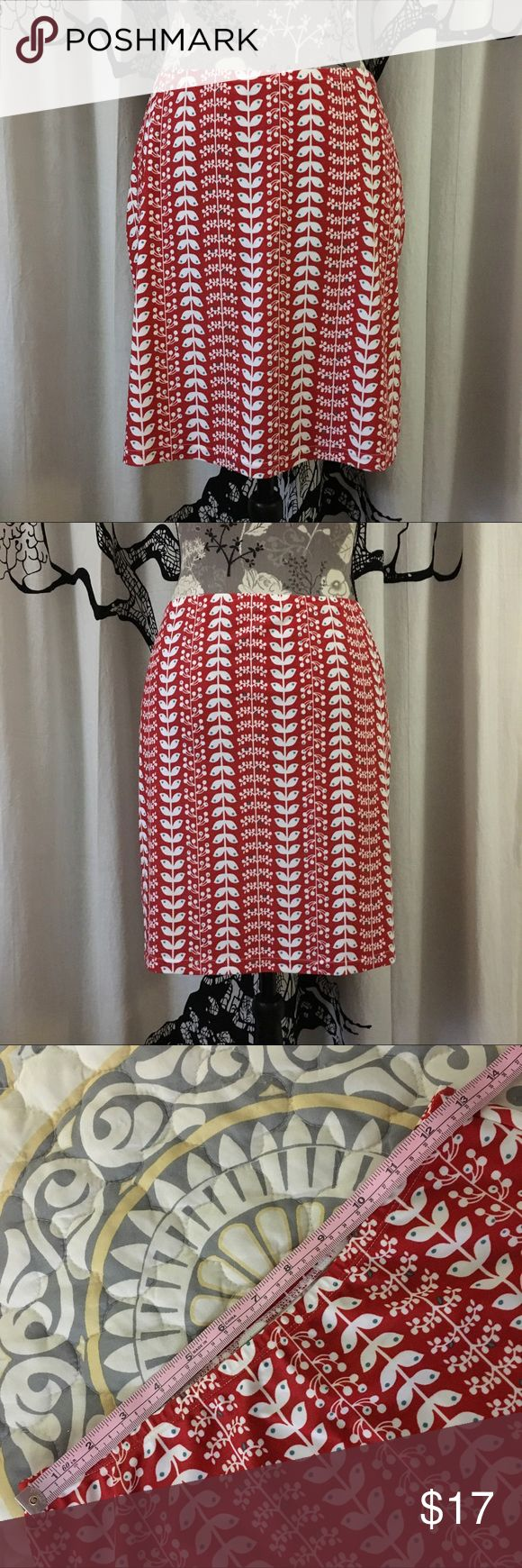 Patagonia Skirt or Swim Cover-Up Super cute red and white skirt by Patagonia. Lightweight and comfortable - perfect for summer, and the fabric makes it great as a swim cover-up as well. Dries quickly. Only worn a couple of times, and in perfect condition. True to size, in my opinion. Please check measurements given in photos against your own for accurate sizing. Patagonia Skirts